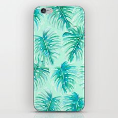 Paradise Palms Mint iPhone Skin