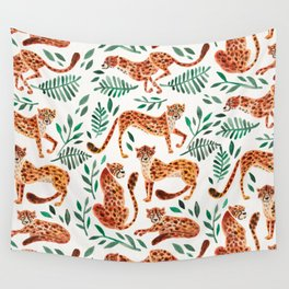 Cheetah Collection – Orange & Green Palette Wall Tapestry
