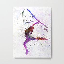 girl playing sports gym rhythm Metal Print