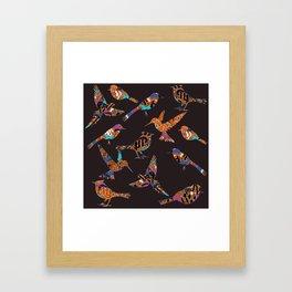 Batik birds Framed Art Print