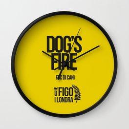 FOCU DI CANI Wall Clock