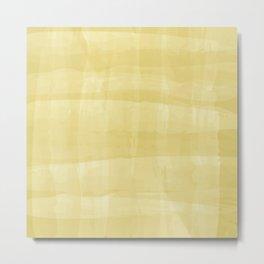 Lemon Strokes Metal Print