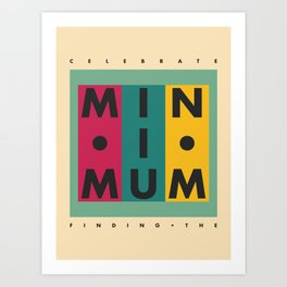 Vintage California // Minimum Art Print