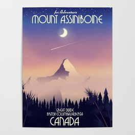 Mount Assiniboine Canada travel poster Poster