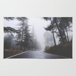 Dream forests. Into the foggy woods Rug