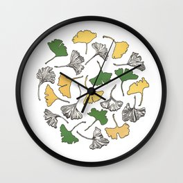 The Gingko Remains Wall Clock