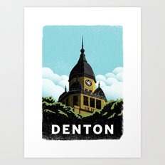 Denton Courthouse  Art Print