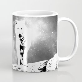 Walking on the moon Wolf Coffee Mug