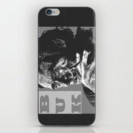 Charles Bukowski -Popart - bw iPhone Skin