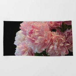 Pink Peony Passion Beach Towel