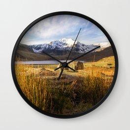 Glyder Fawr and Llyn Ogwen Wall Clock