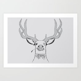 Deer, Pirate  Art Print