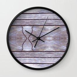 Cracked Wood Photo Wall Clock