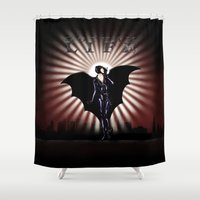 gotham Shower Curtains featuring Gotham Life by Spicy Monocle