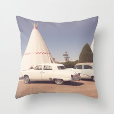 Sleep at the Wigwam Throw Pillow
