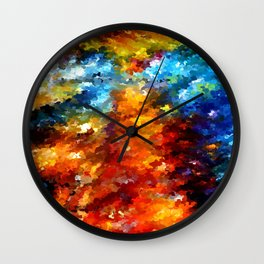 modern composition 01 by rafi talby Wall Clock