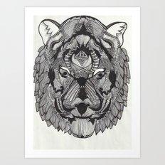 Tiger by Mieke Kristine Art Print