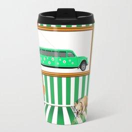 Series: Woman Quartet, No.4 in green and white Travel Mug