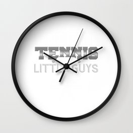 Table Tennis Tennis For The Little Guys Black And White Wall Clock