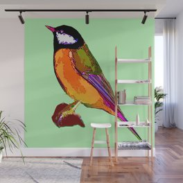 Great Tit Wall Mural