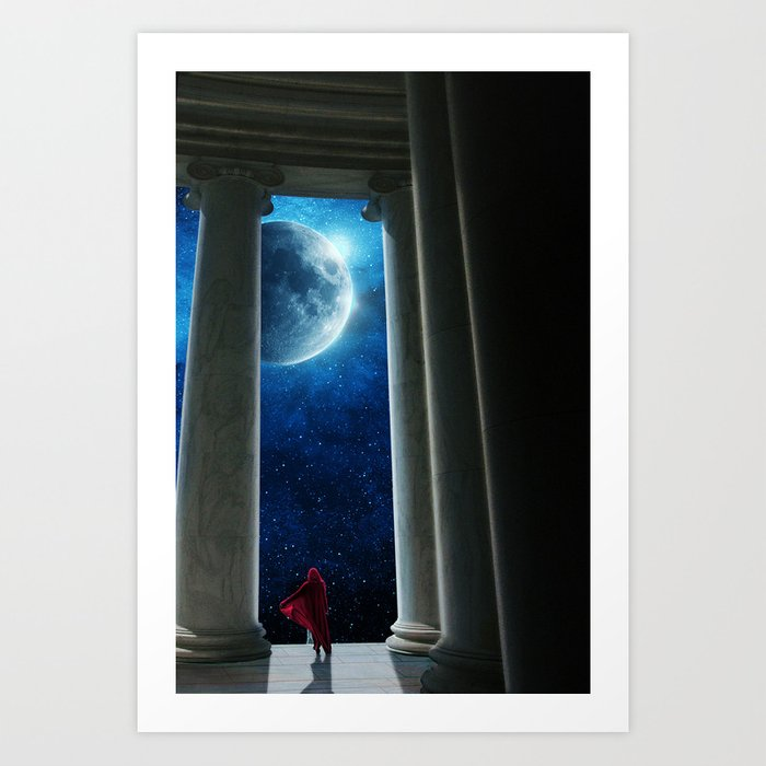 Moon Temple Art Print