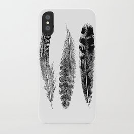Feather Trio | Black and White iPhone Case