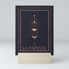 La Papesse or The High Priestess Tarot Mini Art Print