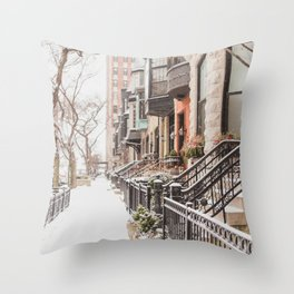 Chicago Snow Day Throw Pillow