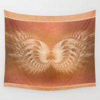 angel wings Wall Tapestries featuring Angel Wings by Selina Morgan