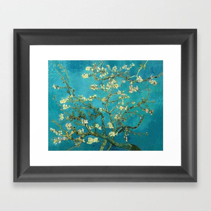 Vincent Van Gogh Blossoming Almond Tree Gerahmter Kunstdruck