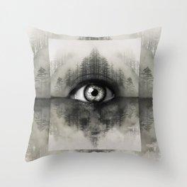 Misty Witness Throw Pillow
