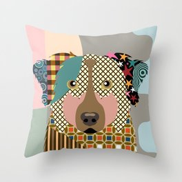 Australian Shepherd Throw Pillow