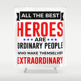 Super Heroes Superheroes Extraordinary Powers Shower Curtain