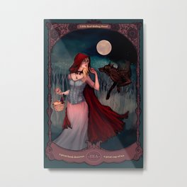 Little Red Riding Hood Tea Poster Metal Print