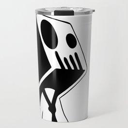Boxed Skull, Named Ick - Business and Pleasure Travel Mug