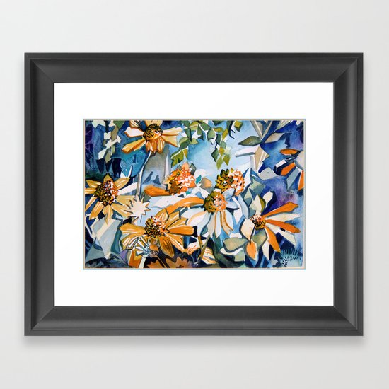 Carnival of Daisies Framed Art Print