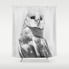 Owl Portrait Photography Minimalism Christmas Shower Curtain