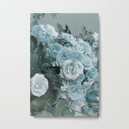 A cloud of blue roses Metal Print