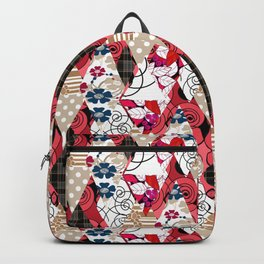 Colorful national patchwork of 12 Backpack