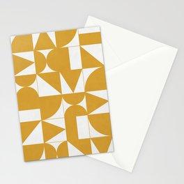 My Favorite Geometric Patterns No.13 - Mustard Yellow Stationery Cards