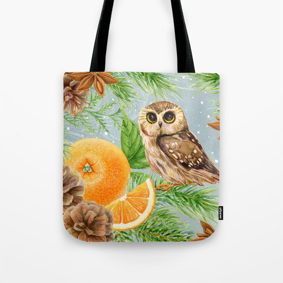 Winter animal #10 Tote Bag