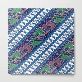 Indonesian batik art. Originated from Jacarta. Metal Print
