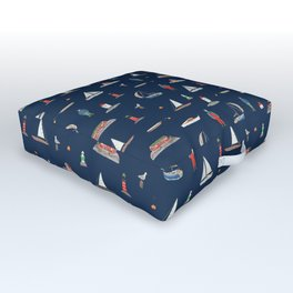 A Sailing Holiday Outdoor Floor Cushion