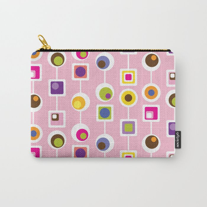 Mod Love Pink Carry-All Pouch