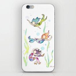 Watercolor Mermaids iPhone Skin