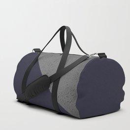 Geometrical Color Block Cement vs  vs evening blue Duffle Bag