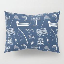 Gone Fishing // Navy Blue Pillow Sham