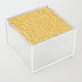 faces / mustard Acrylic Box