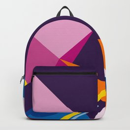 Abstract modern geometric background. Composition 3 Backpack