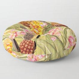 Vintage & Shabby Chic - Hot Summer Yellow Pineapple Tropical Flower Garden Floor Pillow